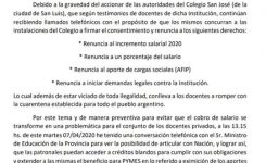 SADoP y la grave situación del colegio San José de la ciudad de San Luis