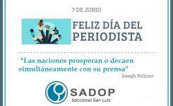 07 de junio:¡¡Feliz Día del Periodista!!