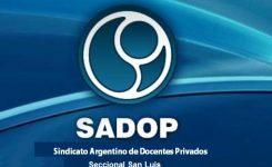 """Preocupación de SADoP sobre el """"Protocolo Marco y Lineamientos Federales para el retorno a clases presenciales en la educación obligatoria y en los institutos superiores"""""""