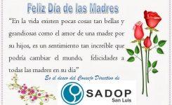 El saludo de SADoP en el Día de la Madre