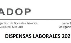 DISPENSAS LABORALES 2021